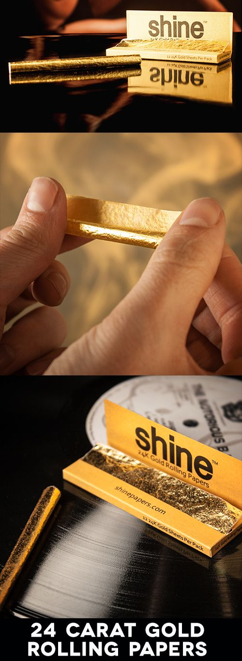 Roll up, roll up! If you enjoy a smoke, deal exclusively in golden bullions and have an imposing bejewelled grill instead of actual teeth, then do we we have the plush puffing paraphernalia for you – Shine 24k Gold Rolling Papers.