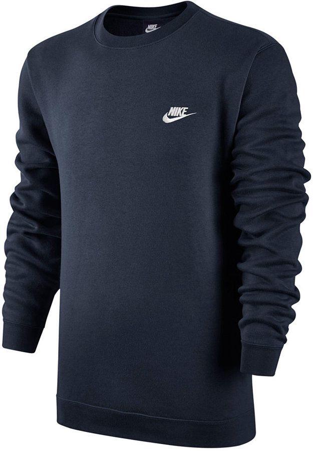 e1c6bf924e63 Nike Men s Crewneck Fleece Sweatshirt