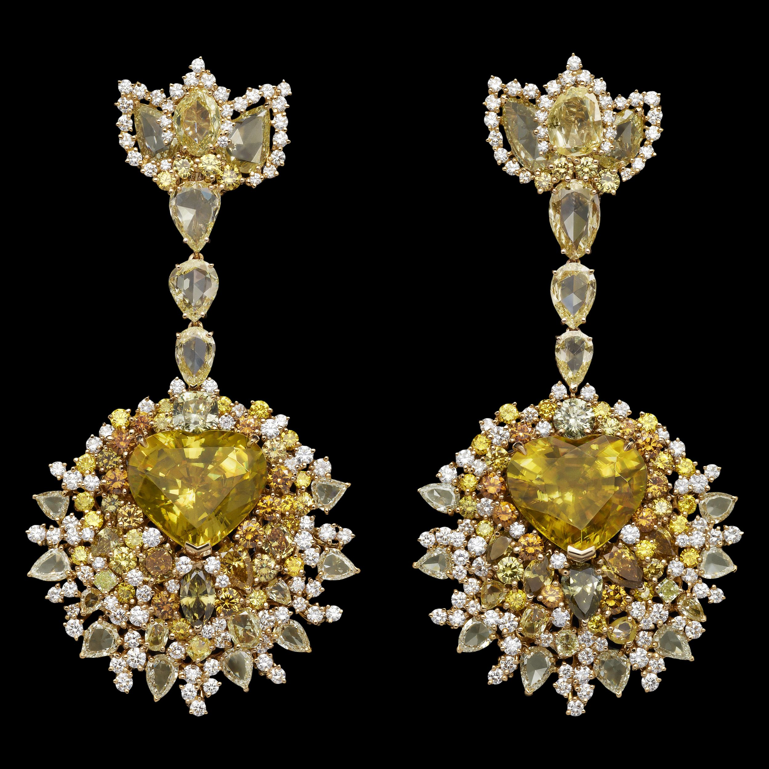 Dior Jewellery Dear Dior Dentelle Mdaillon Soleil earrings