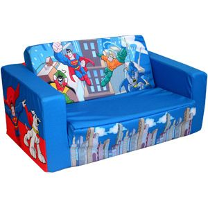 Warner Bros Dc Super Friends Mini Heroes Kids Flip Sofa Kids
