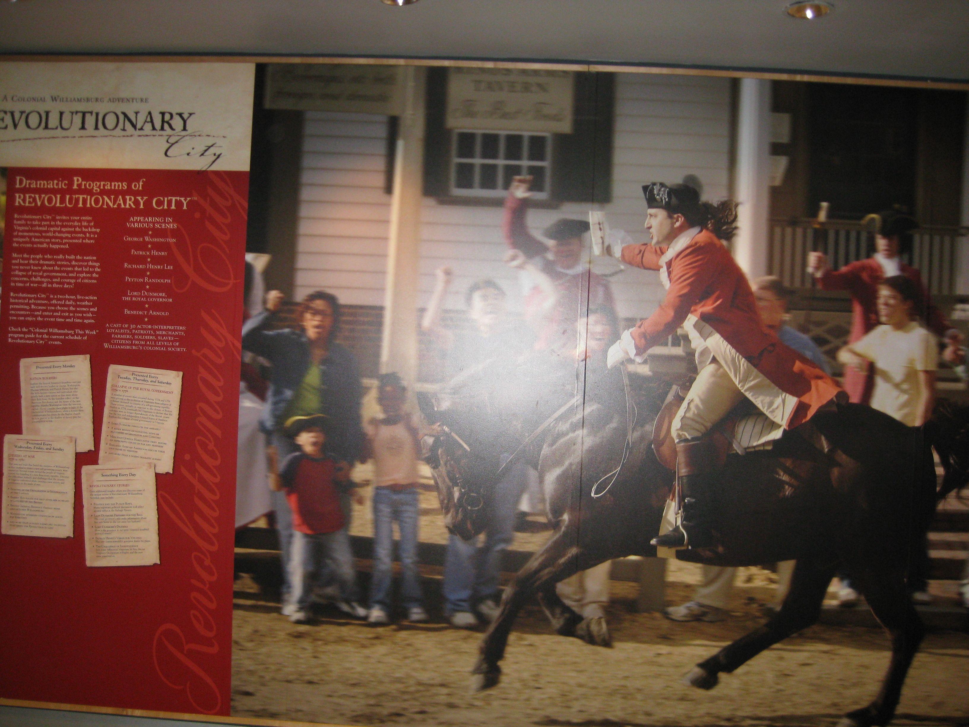 Revolutionary Ride  Colonial Williamsburg VA
