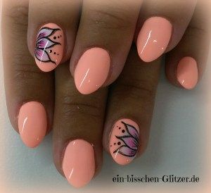 Neon Apricot Nageldesign Nailart Nail Art Und Neon
