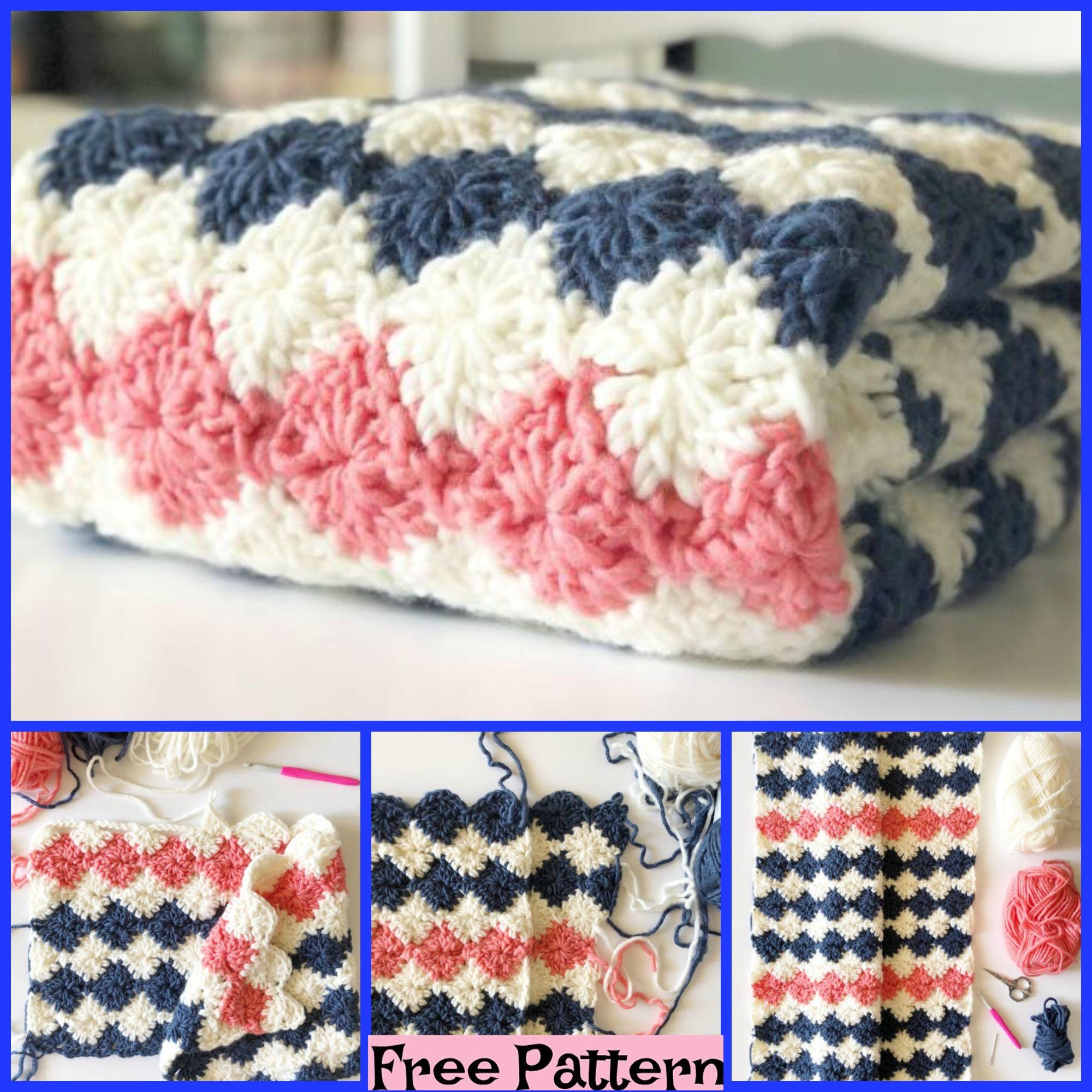 Crochet Harlequin Blanket - Free Pattern # ...