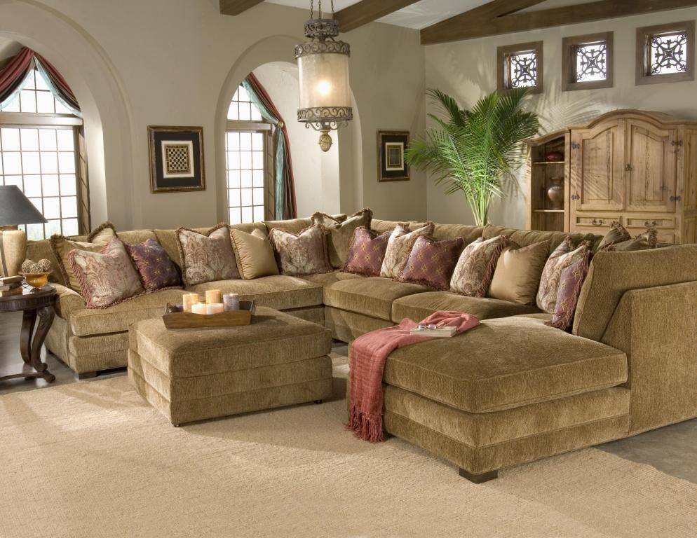 Casbah Transitional U Shaped Sectional Sofa U shaped