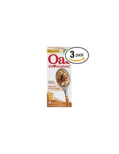 Better Oats Oat Revolution! Instant #Oatmeal ~ Maple & Brown Sugar Flavor ~ 5 Pouches per 7.55 oz Box (Pack of 3 Boxes): http://amzn.to/XV9BYE: Grocery & Gourmet Food