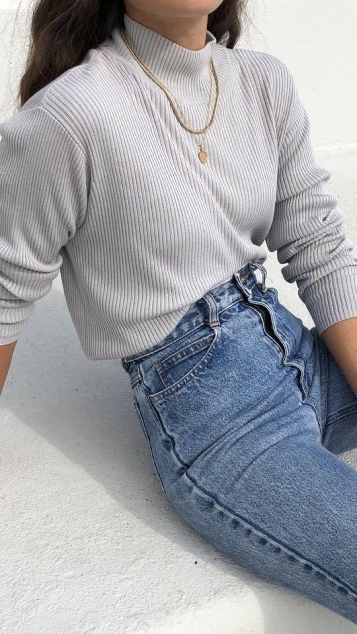 Esthétique de Noël - denim love - Mode #jeanjacketoutfits