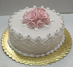 Pictures Of Single Layer Wedding Cakes