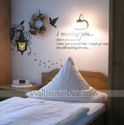 I Missing You For Quotes Wall Stickers Wall Stickers Wall