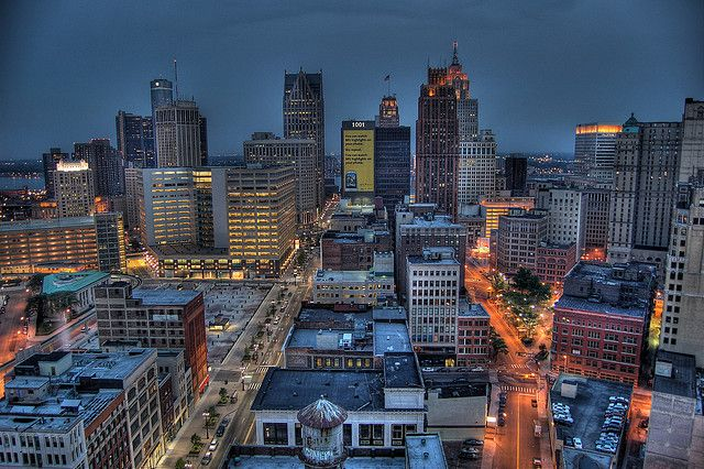 Downtown Detroit Detroit Skyline Detroit Downtown Detroit