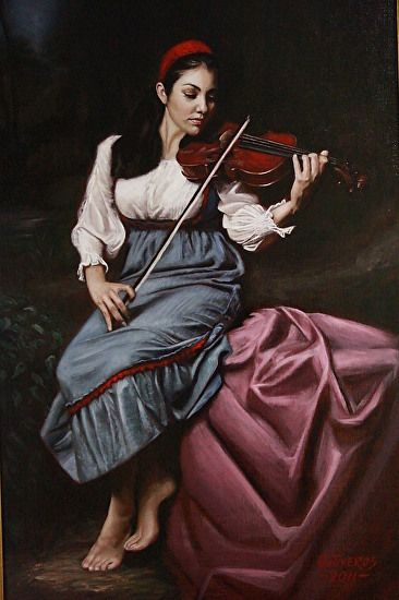 Harmony by Alfonso Ontiveros Oil 36 Inches x 24 Inches