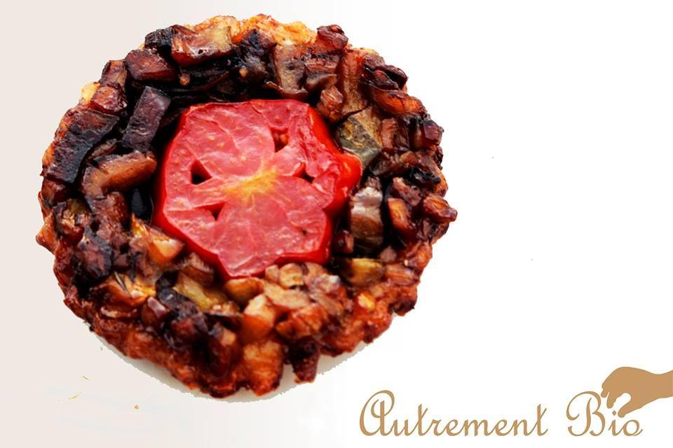Tatin aux petits légumes du jardin par Léo du blog http://autrementbio.fr/