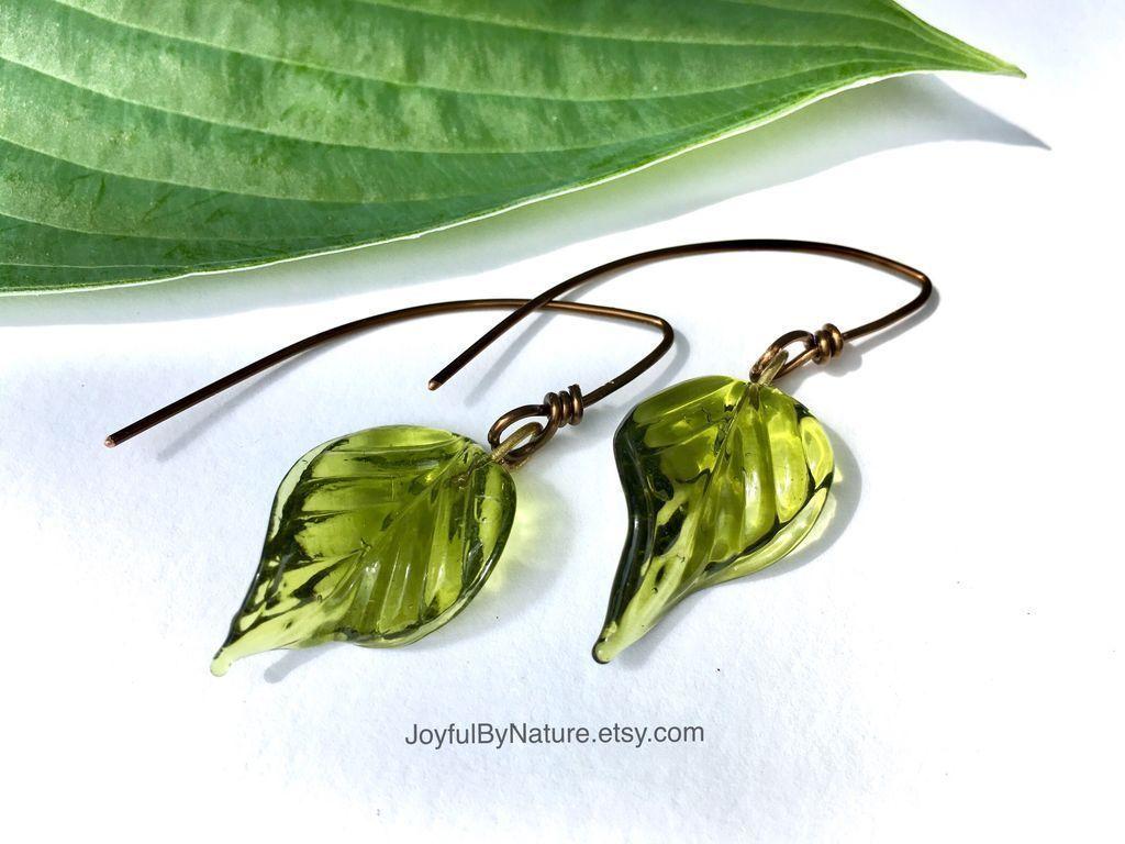 Glass & antiqued copper earrings. Handmade. https://img1.etsystatic.com/155/0/8965783/il_fullxfull.1239913629_qjot.jpg?utm_content=bufferdea72&utm_medium=social&utm_source=pinterest.com&utm_campaign=buffer #etsymntt #green #naturelover #jewelry