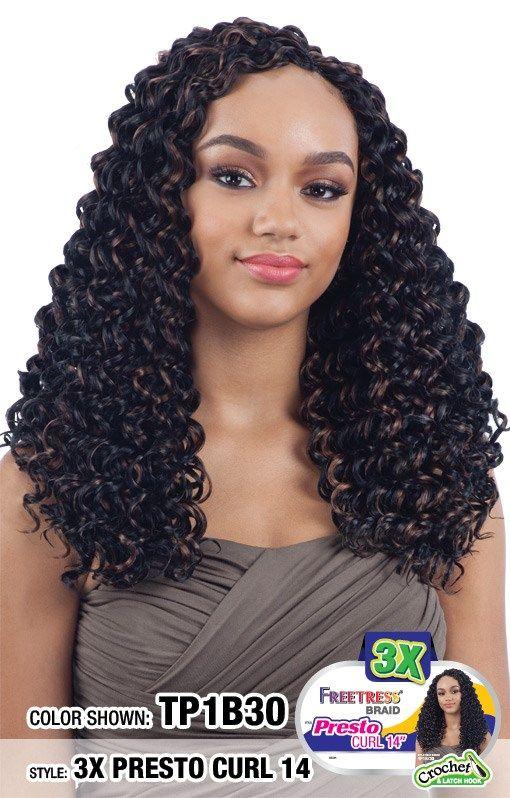 $9.29 - 3X Presto Curl 14 - Shake-N-Go Freetress
