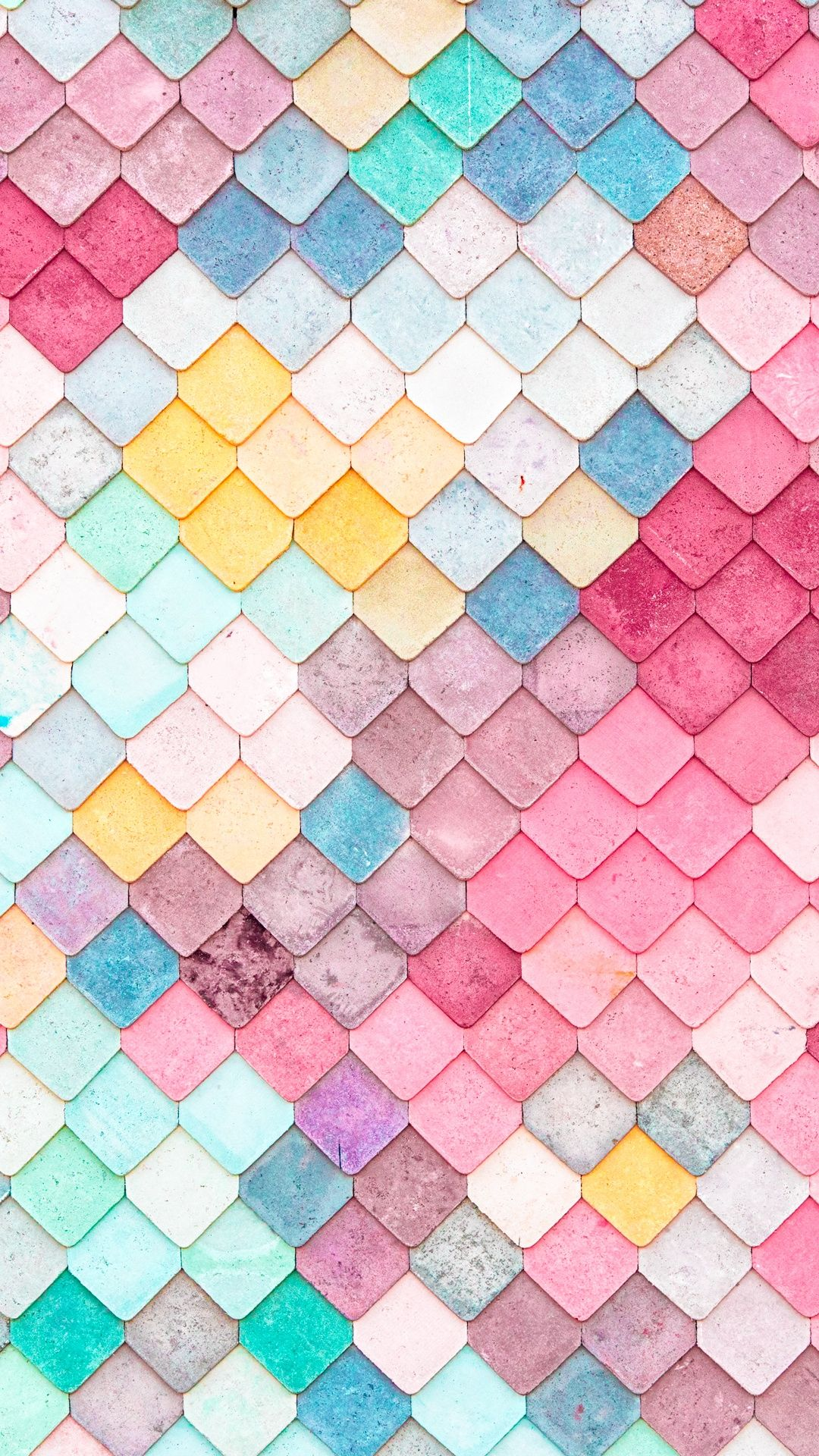 Colorful roof tiles pattern iphone 6 wallpaper iphone for Colourful wallpaper for walls