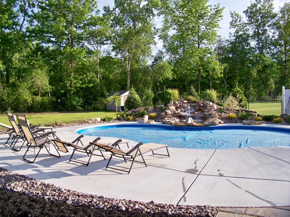 Waterfall Portfolio | 716 Pools | Dream pools, Backyard ...