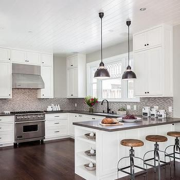 Best Contemporary Kitchen Peninsula With End Shelves Com 400 x 300