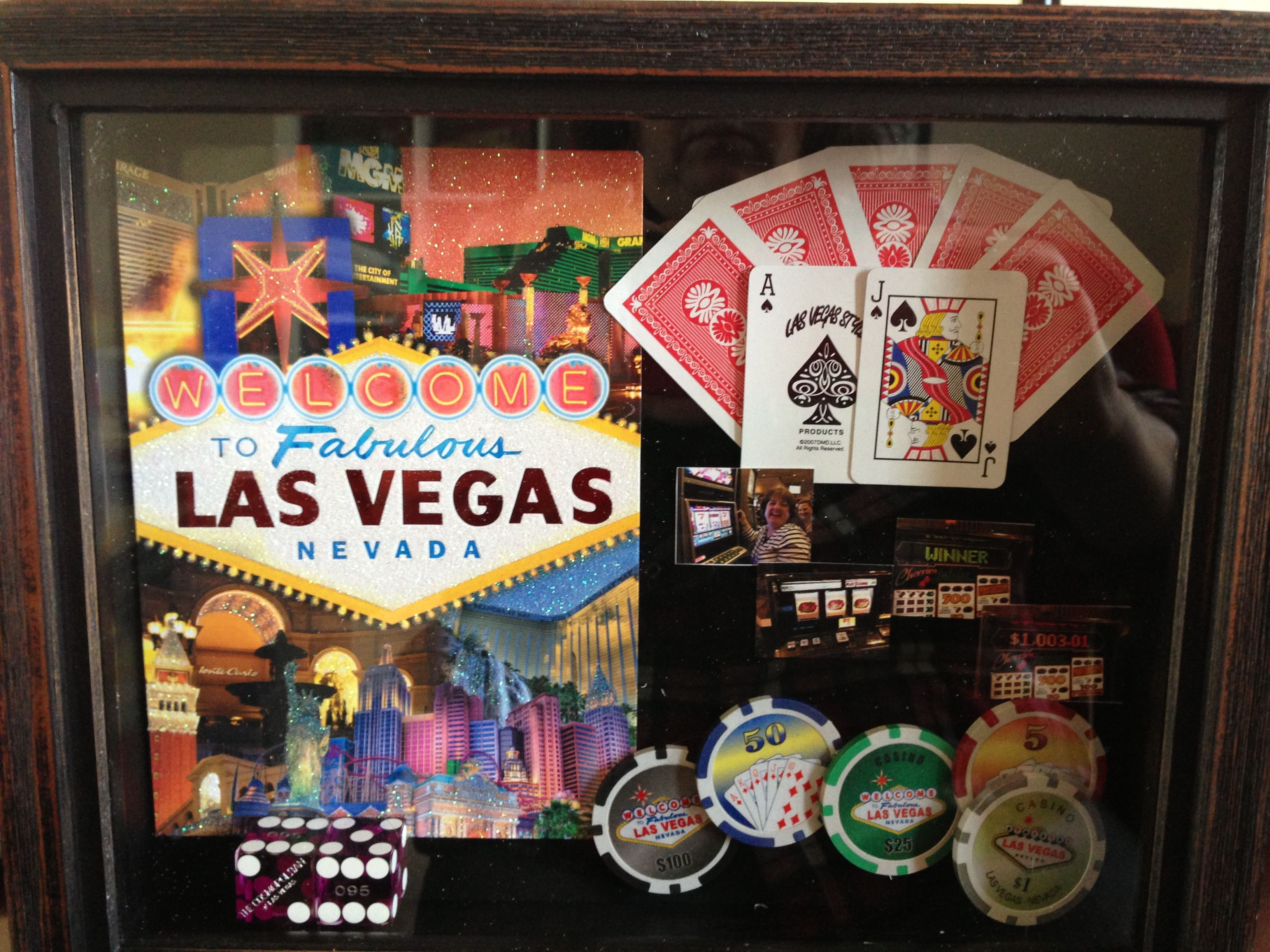 My latest shadow box: My trip to Las Vegas | crafts in 2018 ...