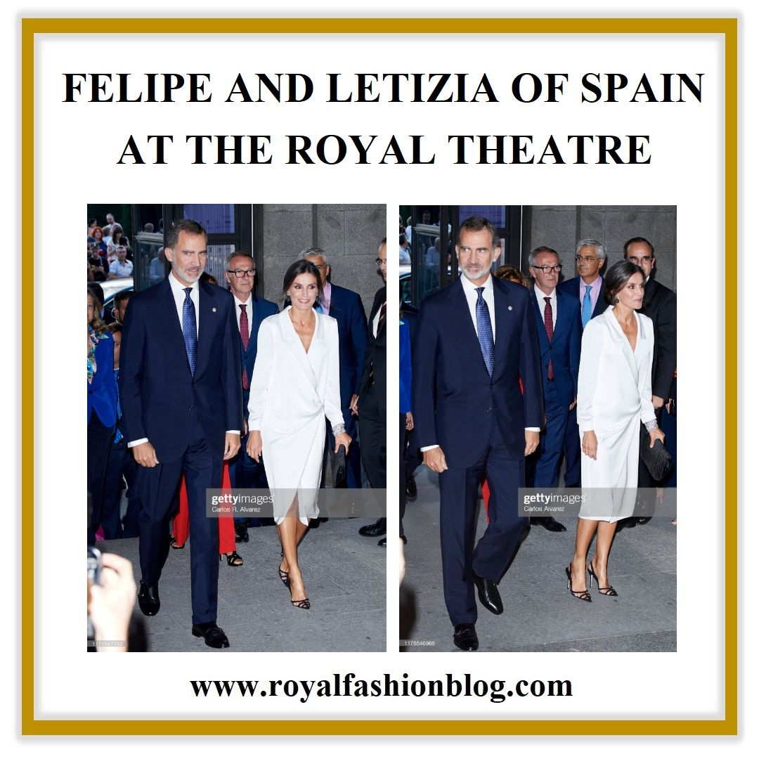 QUEEN LETIZIA AND KING FELIPE AT THE ROYAL THEATRE Queen