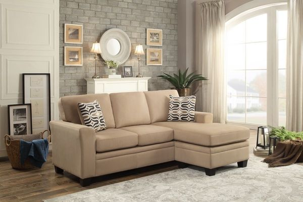 Synnove Light Brown Reversible Sectional Sofa by Homelegance images