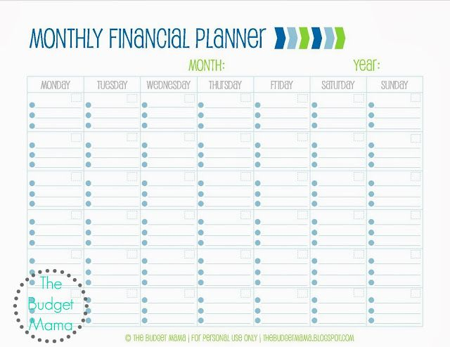 The Budget Mama Monthly Financial Planning Wedding Planner