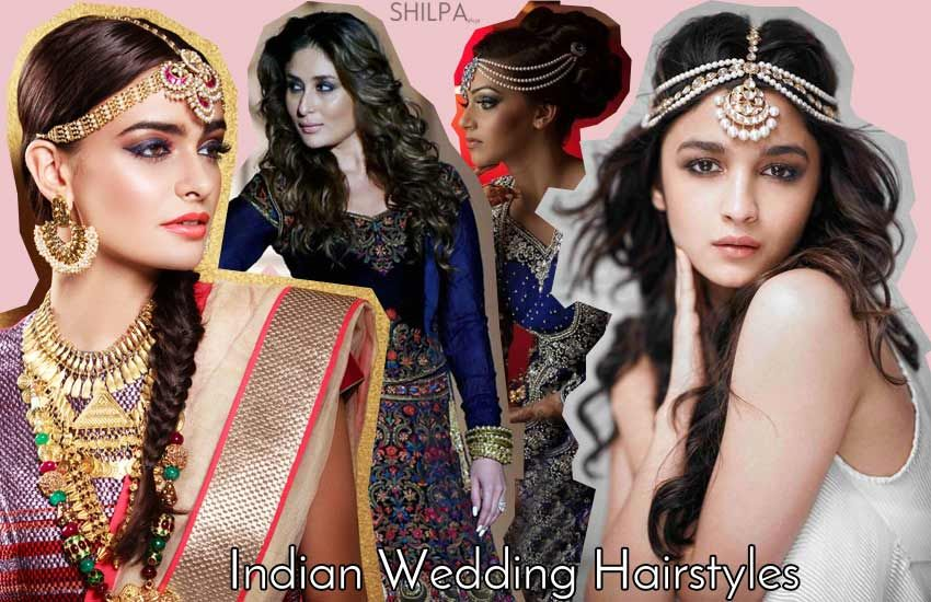 Reception Hairstyle And Indian Wedding Hair Style Ideas - Bun hairstyle for reception