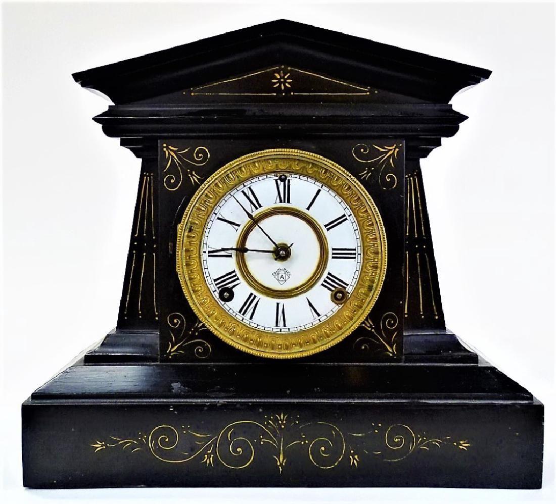 Lot 19th C Ansonia Neo Classical Mantel Clock Lot Number 0002