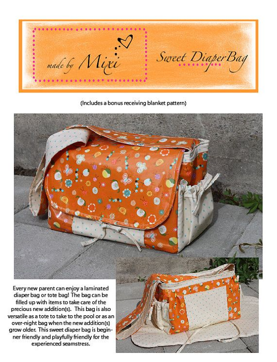 Sweet Diaper Bag with Changing Pad (Adult-Size) PDF Pattern ...