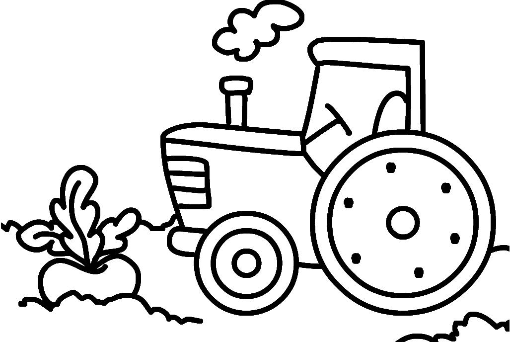 Ausmalbilder Malvorlagen - Traktor Kostenlos Zum