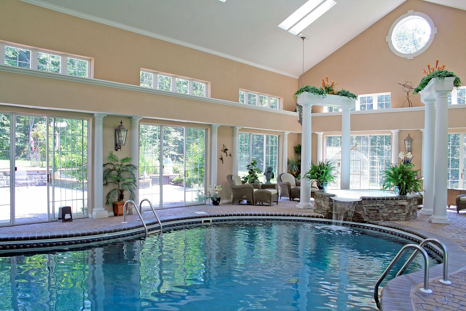 Indoor Pools In Homes Impressive The House Swimming Pool Will Not Make The Home Become Perfect If Decorating Design