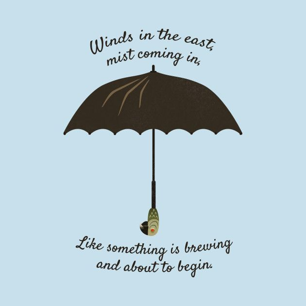 Awesome 'Mary Poppins Umbrella' design on TeePublic! is part of Mary poppins quotes -