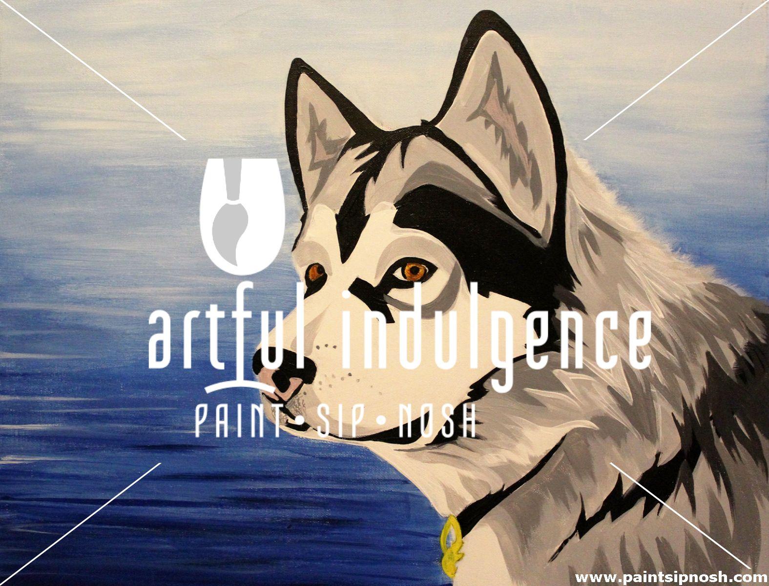 """PAINT YOUR PET """"DOG"""" . PaintSipNosh! with Artful"""