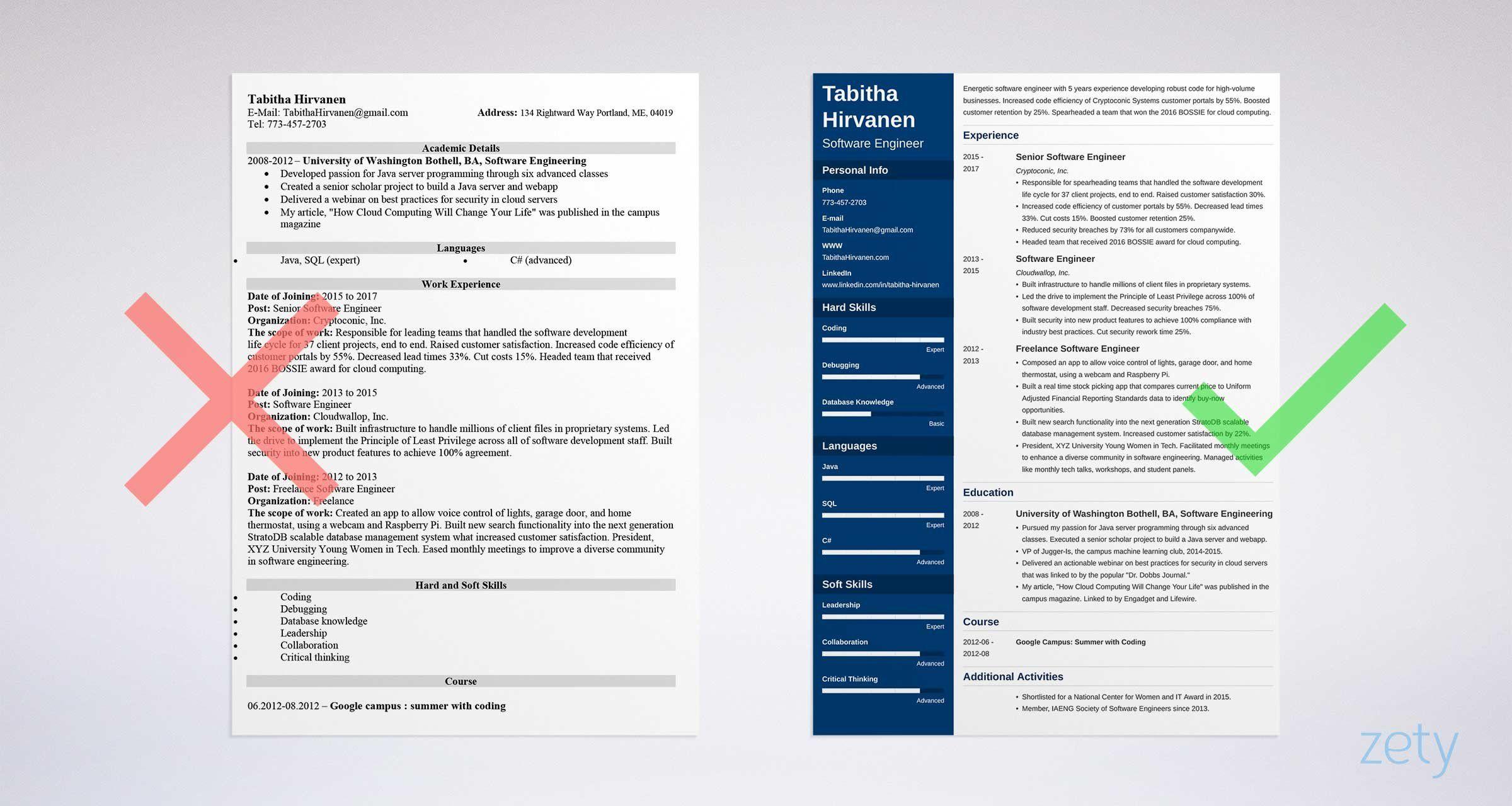 what a good developer resume looks like pdf