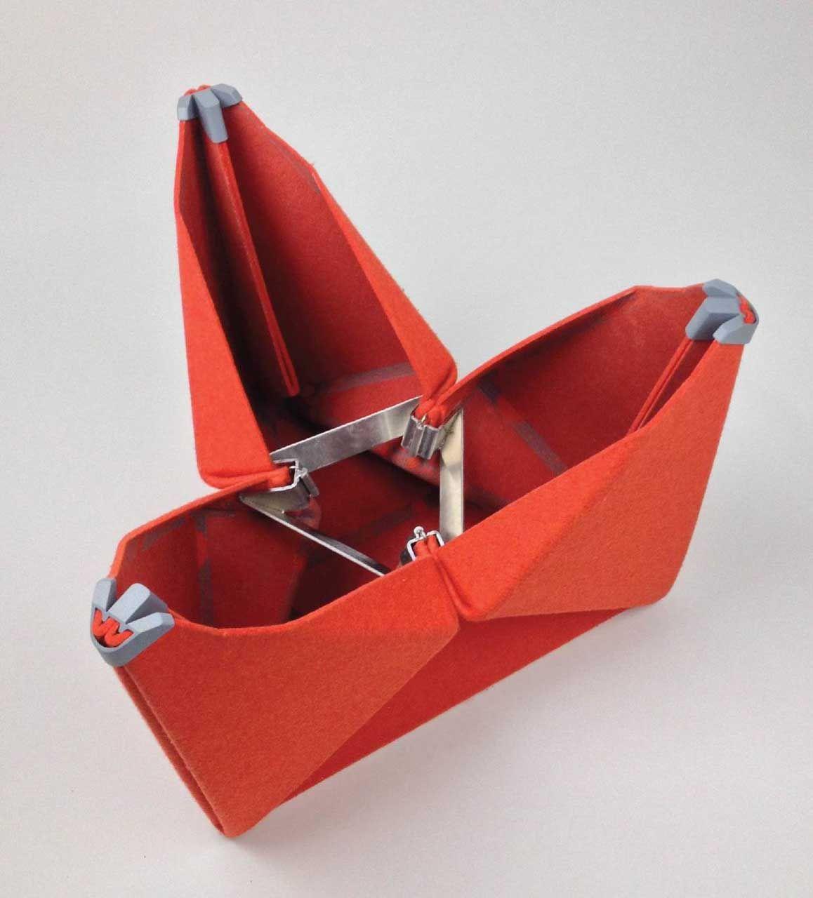 A flat packed origami stool orangutan pinterest stools a flat packed origami stool folding furniturefolding jeuxipadfo Gallery