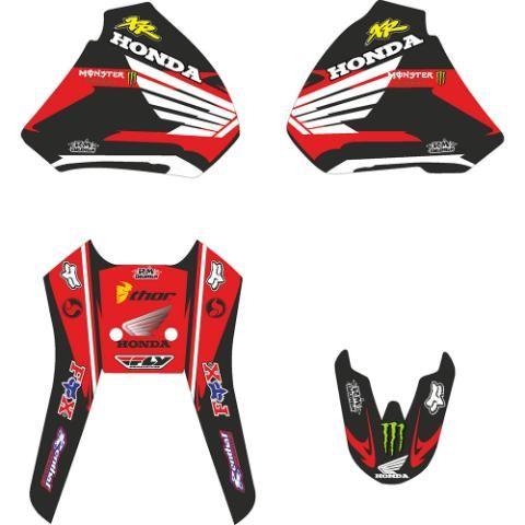 Calcomanias Para Honda Xr 400 Calcos Ploteo 1300 0 Motos Honda Honda Calcomanias