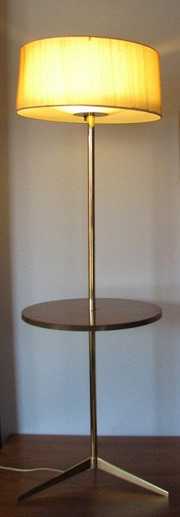 Laurel slim design floor table lamp brass and round by aswirgon, $1150.00