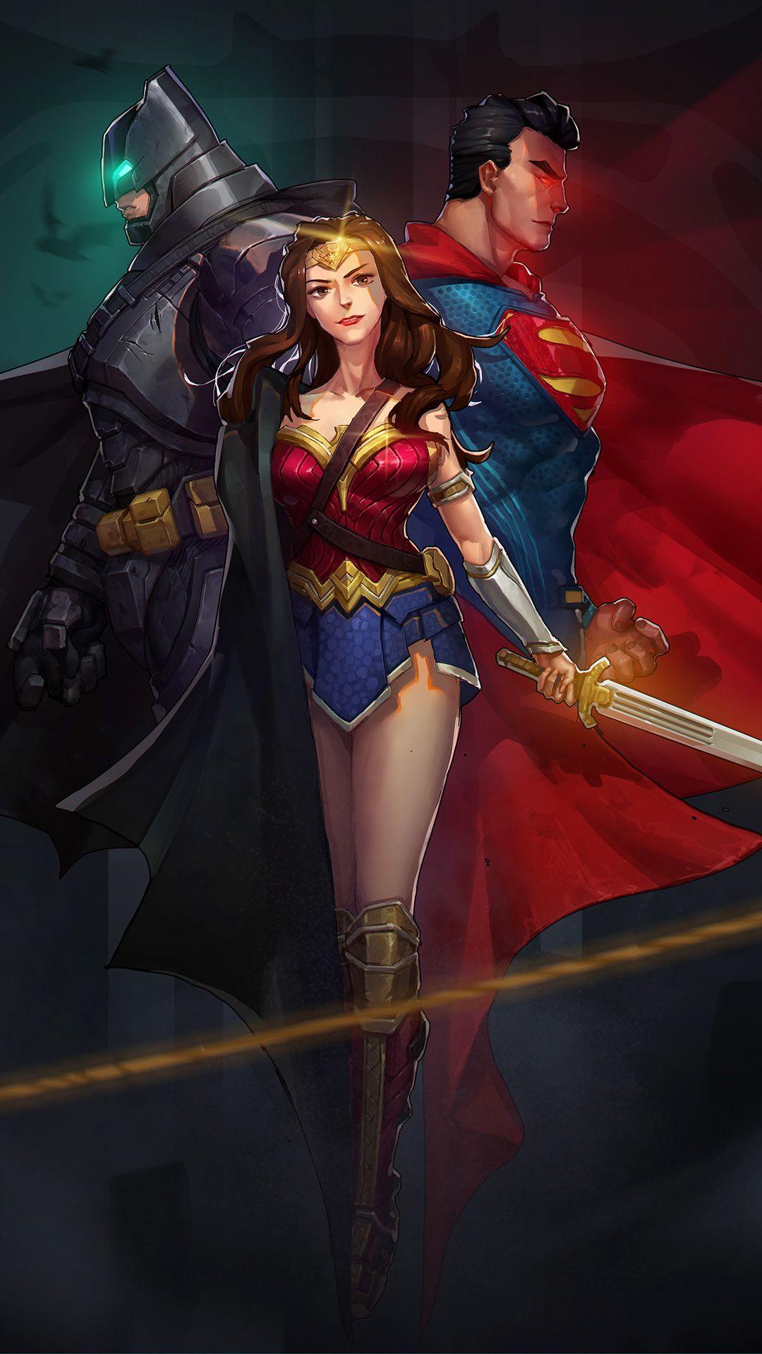1080x1920 Fanart Justice League Guardian Superheroes Wonder Woman Batman Superman Wallpap Batman Superman Wonder Woman Superman Wonder Woman Wonder Woman