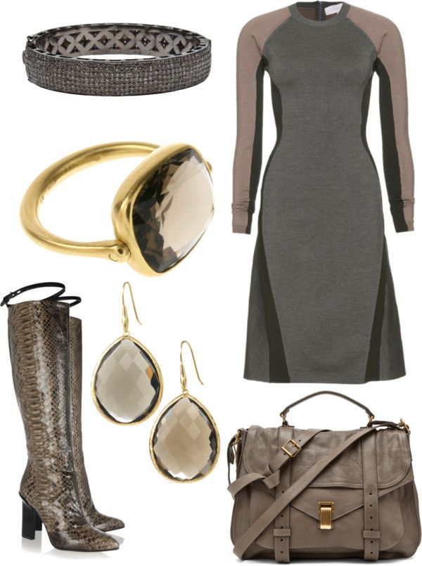 """""""taupe and grey"""" by shelly-douglas-koehler ❤ liked on Polyvore"""