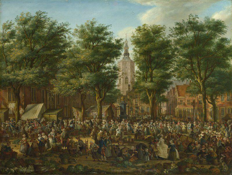 Paulus Constantijn La Fargue De Grote Markt In Den Haag 1760