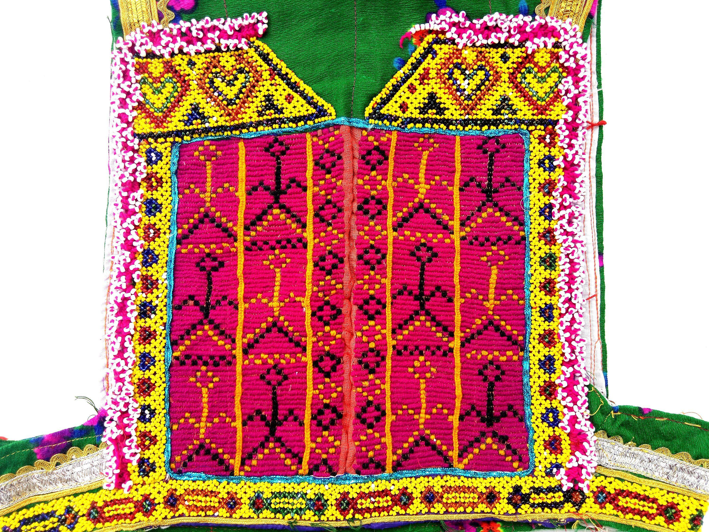 Banjara beads embroidery banjara neck yoke beautiful beads and zari
