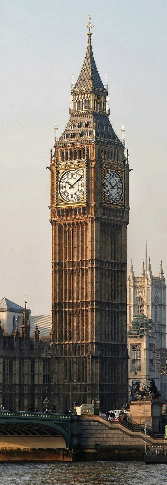 Big Ben ~ is the nickname of the Great Bell of the clock at the north end of the Palace of Westminister in London, England