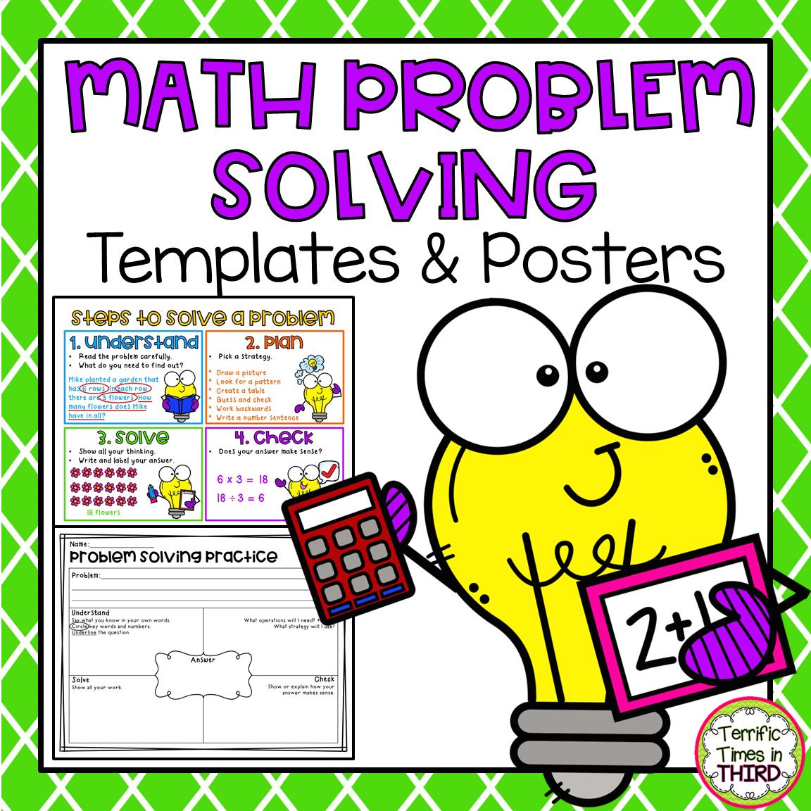Math Problem Solving Templates Amp Posters Editable