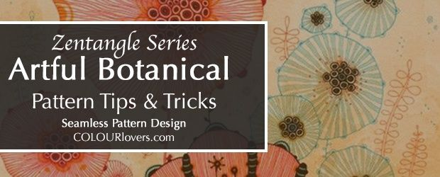 Zentangle Series Botanical Pattern Design Tips Tricks The