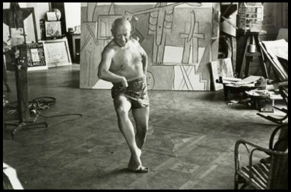 @marcogatto54e @Tbayleaf  toujours sage et opportune   Photo of Pablo Picasso, taken in 1957 by David Douglas Duncan