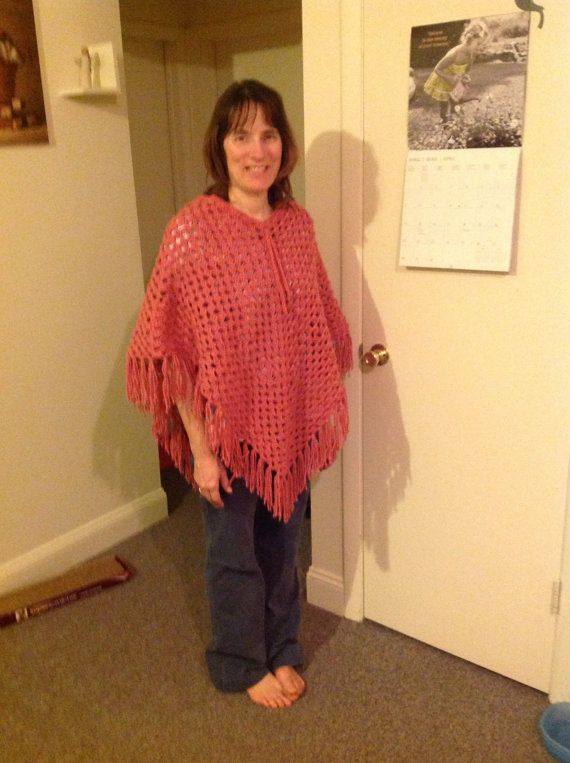 Retro crocheted poncho by MelissasCreations33 on Etsy, $30.00