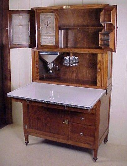Antique Hoosier Cabinet In The Kitchen