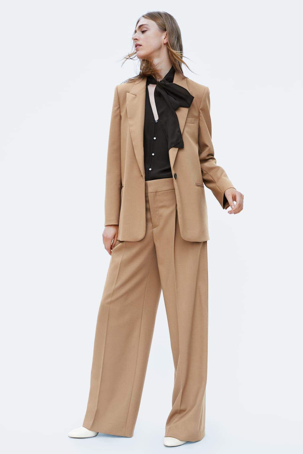 best website 8bc2a 5d5c4 Long Blazer, Zara Women, Pants Outfit, Fall 2018, Work Wear, Autumn