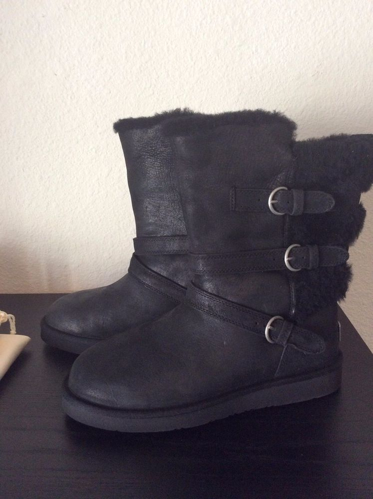 289a5e35569 NEW Women UGG Australia Becket Boot 1005380 Black Leather size 10 ...
