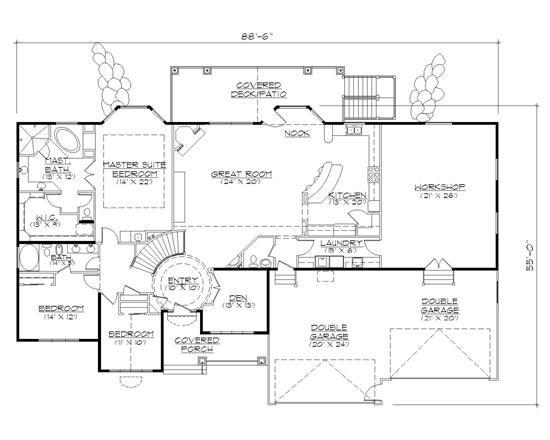 Plan With Workshop House Plans Floor Plan Design Home Design Floor Plans