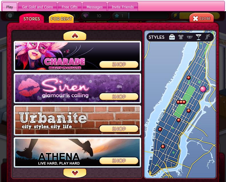 Disney City Girl transporta a las jugadoras a la Ciudad de Nueva York.