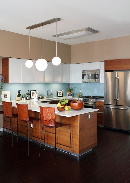 Anna And Aj S Modern T Loft Mid Century Modern Kitchen Design